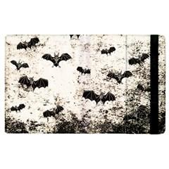Vintage Halloween Bat Pattern Apple Ipad 2 Flip Case by Valentinaart
