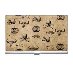 Vintage Halloween Pattern Business Card Holders by Valentinaart