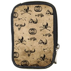 Vintage Halloween Pattern Compact Camera Cases by Valentinaart
