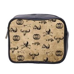 Vintage Halloween Pattern Mini Toiletries Bag 2 Side by Valentinaart
