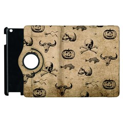 Vintage Halloween Pattern Apple Ipad 3/4 Flip 360 Case by Valentinaart