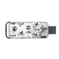 Vintage Halloween Pattern Portable Usb Flash (one Side) by Valentinaart
