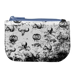 Vintage Halloween Pattern Large Coin Purse by Valentinaart