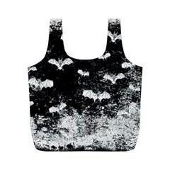Vintage Halloween Bat Pattern Full Print Recycle Bags (m)  by Valentinaart