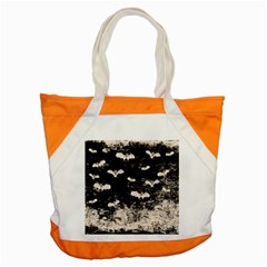 Vintage Halloween Bat Pattern Accent Tote Bag by Valentinaart