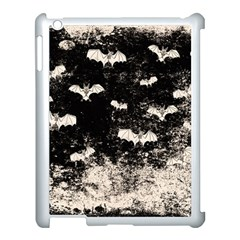 Vintage Halloween Bat Pattern Apple Ipad 3/4 Case (white) by Valentinaart