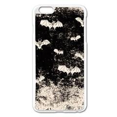 Vintage Halloween Bat Pattern Apple Iphone 6 Plus/6s Plus Enamel White Case by Valentinaart