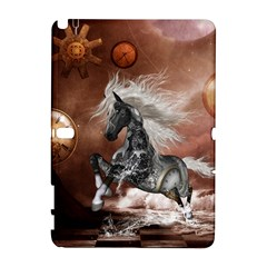 Steampunk, Awesome Steampunk Horse With Clocks And Gears In Silver Galaxy Note 1 by FantasyWorld7