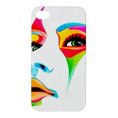 Colourful Art Face Apple Iphone 4/4s Hardshell Case by MaryIllustrations