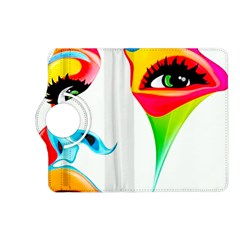 Colourful Art Face Kindle Fire Hd (2013) Flip 360 Case by MaryIllustrations