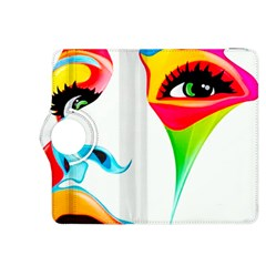 Colourful Art Face Kindle Fire Hdx 8 9  Flip 360 Case by MaryIllustrations