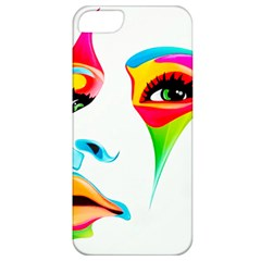 Colourful Art Face Apple Iphone 5 Classic Hardshell Case by MaryIllustrations