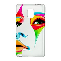 Colourful Art Face Galaxy Note Edge by MaryIllustrations