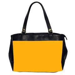 Pale Pumpkin Orange Creepy Hollow Halloween  Office Handbags (2 Sides)  by PodArtist