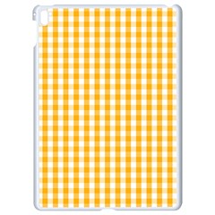 Pale Pumpkin Orange And White Halloween Gingham Check Apple Ipad Pro 9 7   White Seamless Case by PodArtist