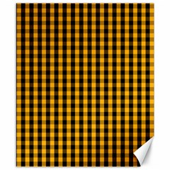 Pale Pumpkin Orange And Black Halloween Gingham Check Canvas 8  X 10  by PodArtist