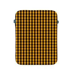 Pale Pumpkin Orange And Black Halloween Gingham Check Apple Ipad 2/3/4 Protective Soft Cases by PodArtist