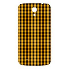 Pale Pumpkin Orange And Black Halloween Gingham Check Samsung Galaxy Mega I9200 Hardshell Back Case by PodArtist