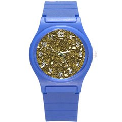 Jagged Stone 3b Round Plastic Sport Watch (s) by MoreColorsinLife