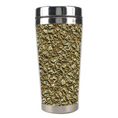 Jagged Stone Golden Stainless Steel Travel Tumblers by MoreColorsinLife