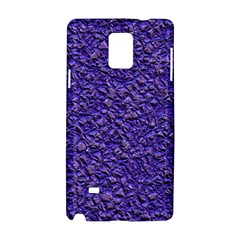 Jagged Stone Blue Samsung Galaxy Note 4 Hardshell Case by MoreColorsinLife