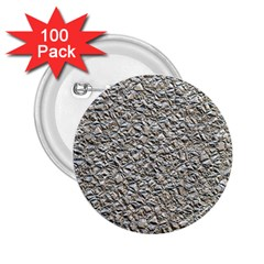 Jagged Stone Silver 2 25  Buttons (100 Pack)  by MoreColorsinLife