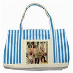 Striped Blue Tote Bag