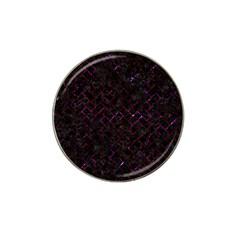 Brick2 Black Marble & Burgundy Marble Hat Clip Ball Marker (4 Pack) by trendistuff
