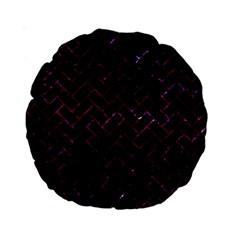Brick2 Black Marble & Burgundy Marble Standard 15  Premium Round Cushions by trendistuff