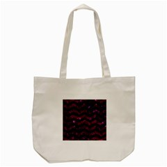 Chevron3 Black Marble & Burgundy Marble Tote Bag (cream) by trendistuff