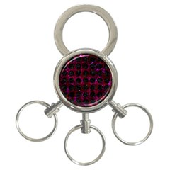 Circles1 Black Marble & Burgundy Marble (r) 3 Ring Key Chains by trendistuff