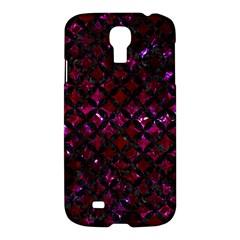 Circles3 Black Marble & Burgundy Marble (r) Samsung Galaxy S4 I9500/i9505 Hardshell Case by trendistuff