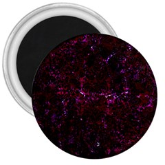 Damask2 Black Marble & Burgundy Marble (r) 3  Magnets by trendistuff