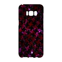 Houndstooth2 Black Marble & Burgundy Marble Samsung Galaxy S8 Hardshell Case  by trendistuff