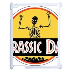 Jurassic Dad Dinosaur Skeleton Funny Birthday Gift Apple Ipad 2 Case (white) by PodArtist