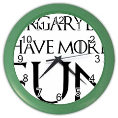 Targaryens Have More Fun   Blondes Have More Fun Black Color Wall Clocks by PodArtist