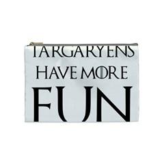 Targaryens Have More Fun   Blondes Have More Fun Black Cosmetic Bag (medium)  by PodArtist