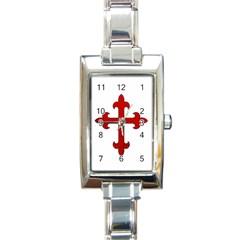 Crusader Cross Rectangle Italian Charm Watch by Valentinaart