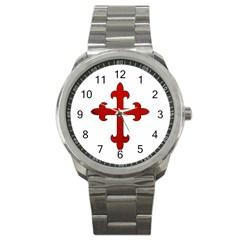 Crusader Cross Sport Metal Watch by Valentinaart