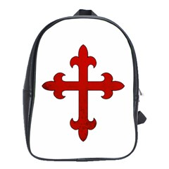 Crusader Cross School Bag (large) by Valentinaart