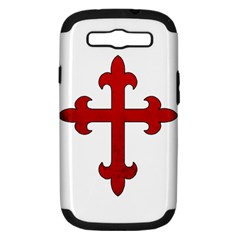 Crusader Cross Samsung Galaxy S Iii Hardshell Case (pc+silicone) by Valentinaart