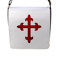 Crusader Cross Flap Messenger Bag (l)  by Valentinaart
