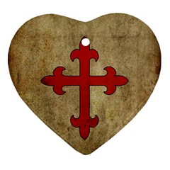 Crusader Cross Ornament (heart) by Valentinaart