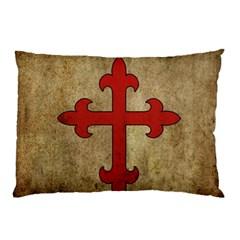 Crusader Cross Pillow Case by Valentinaart