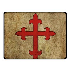Crusader Cross Fleece Blanket (small) by Valentinaart