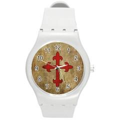 Crusader Cross Round Plastic Sport Watch (m) by Valentinaart