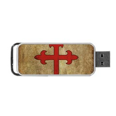 Crusader Cross Portable Usb Flash (two Sides) by Valentinaart