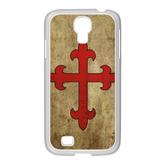 Crusader Cross Samsung Galaxy S4 I9500/ I9505 Case (white) by Valentinaart