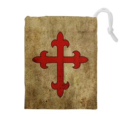 Crusader Cross Drawstring Pouches (extra Large) by Valentinaart