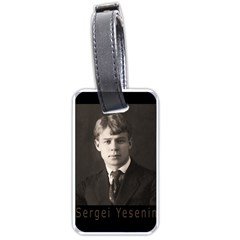 Sergei Yesenin Luggage Tags (one Side)  by Valentinaart